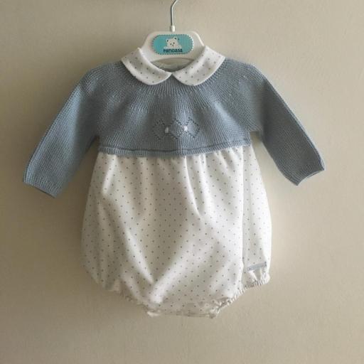 Pelele Points celeste Pangasa Baby [0]