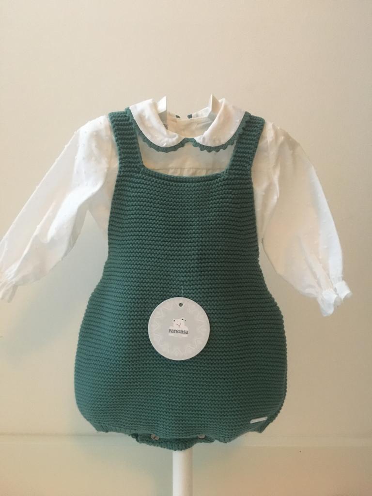 Conjunto Peto y Camisa  Verde Pangasa Baby