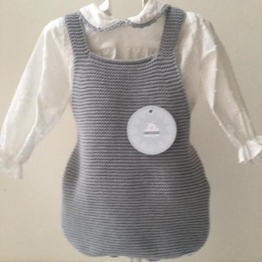 Conjunto Peto y Camisa Gris Pangasa Baby [0]