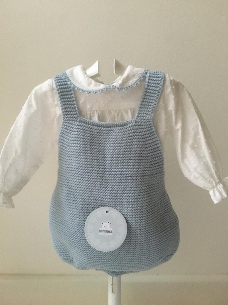 Conjunto Peto y Camisa  Celeste Pangasa Baby
