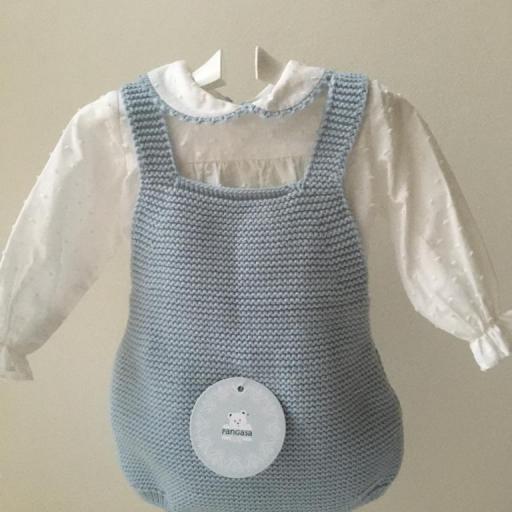 Conjunto Peto y Camisa  Celeste Pangasa Baby [0]