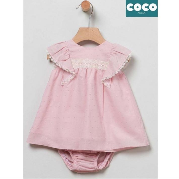 Vestido niña plumeti Coco Acqua