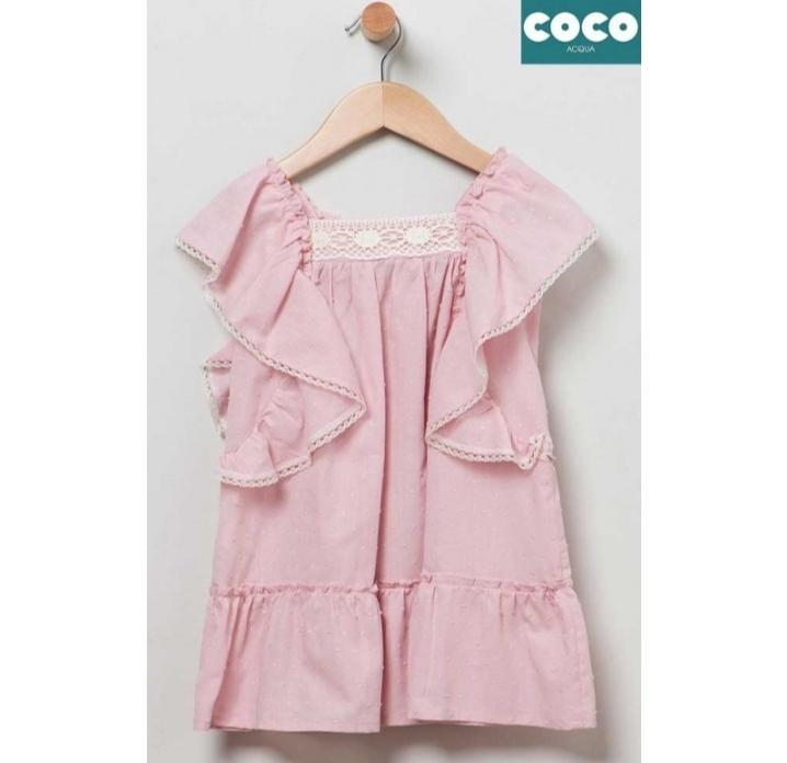 Vestido plumero Coco Acqua