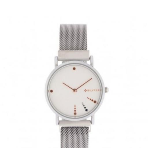 Reloj plateado Bilyfer [0]