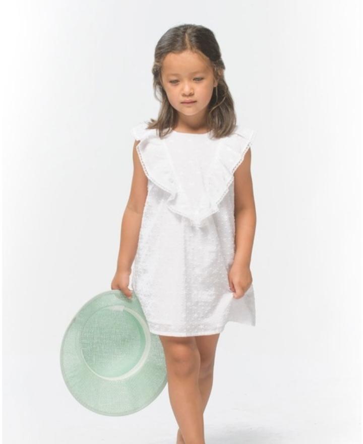 Vestido Plumeti blanco Coco Acqua