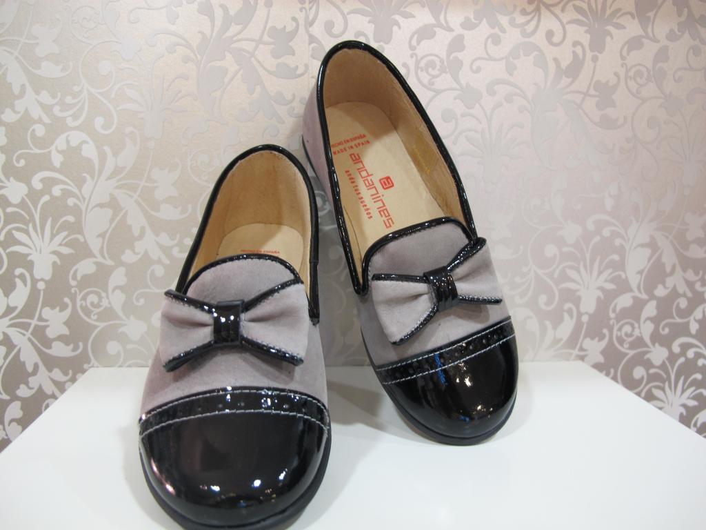 Zapatos niña beige y negro Andanines