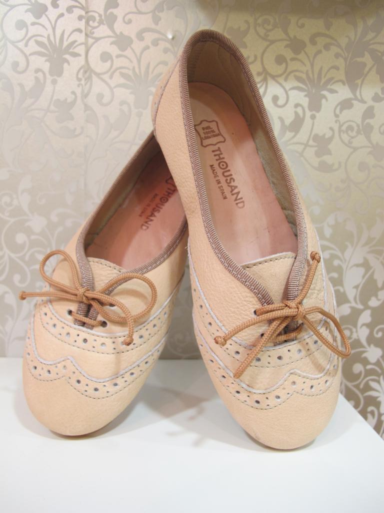 Zapatos niña color vainilla Thousand