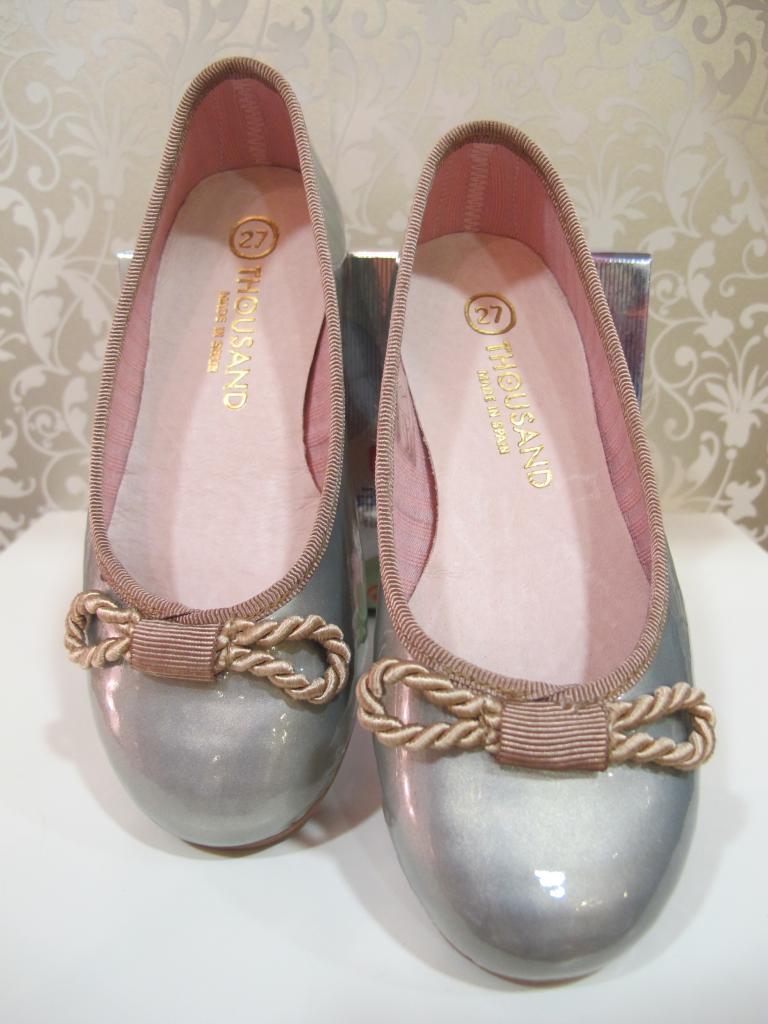 Zapatos niña color plata Thousand