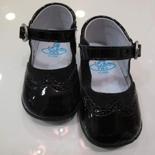 Zapato niña charol y serraje Tinny shoes [0]