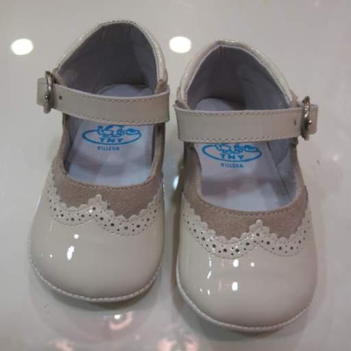 Zapato niña charol y serraje Tinny shoes