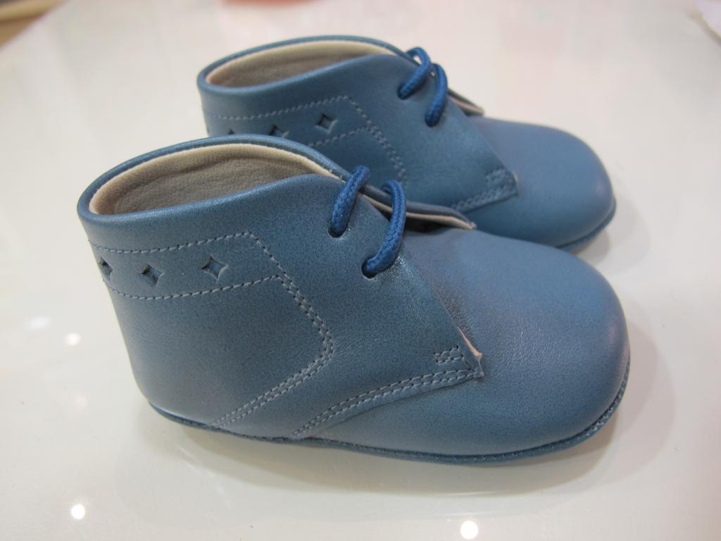 Botas azul azafata