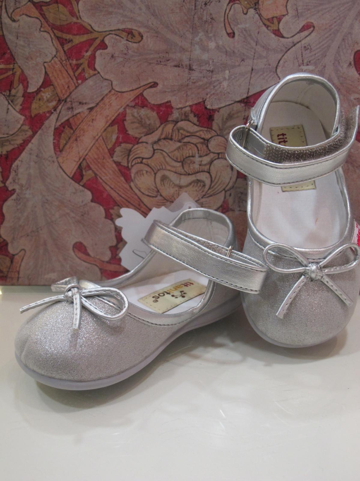 Zapato textil plata Titanitos
