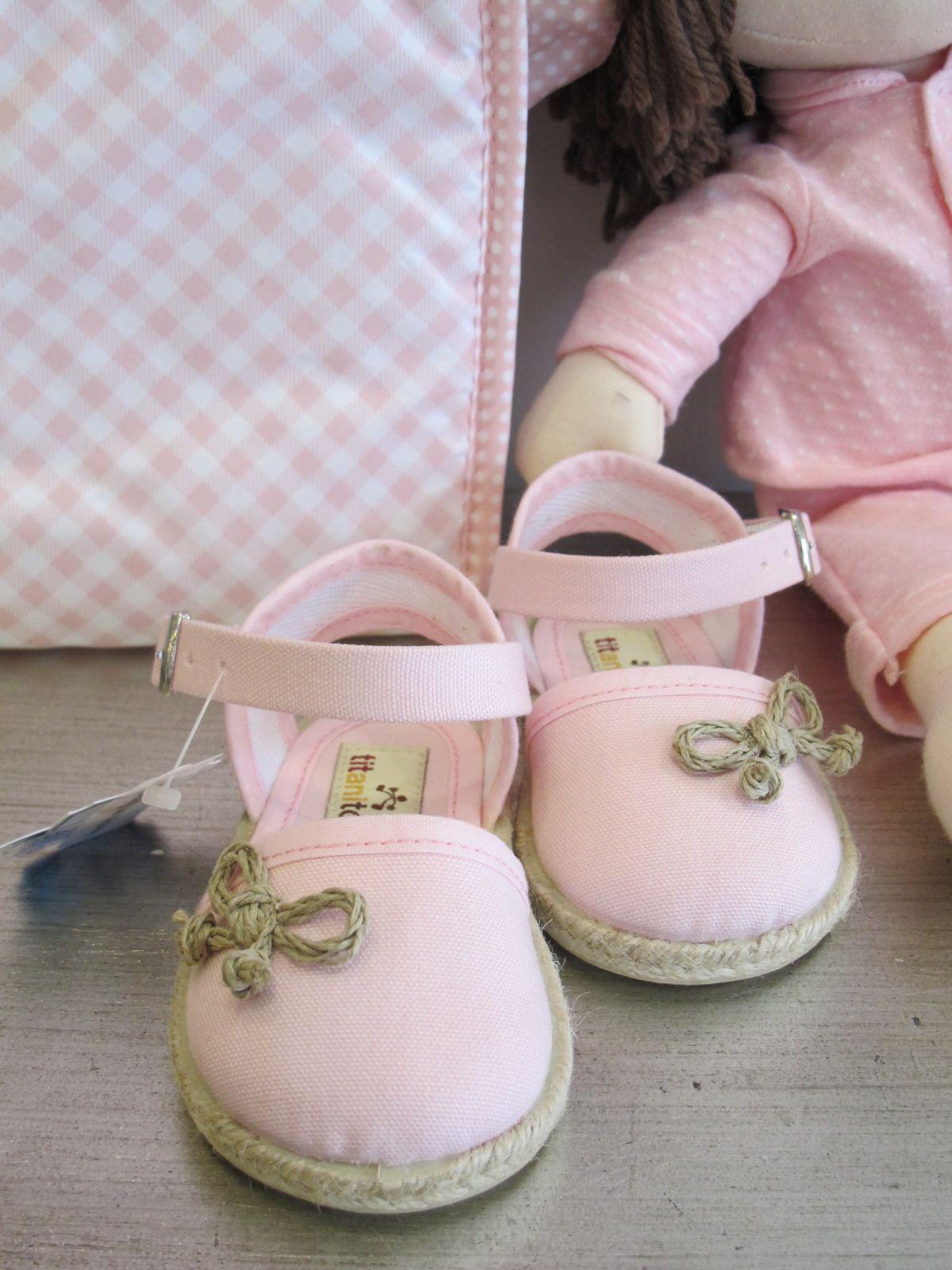 Zapatillas lona rosa Titanitos