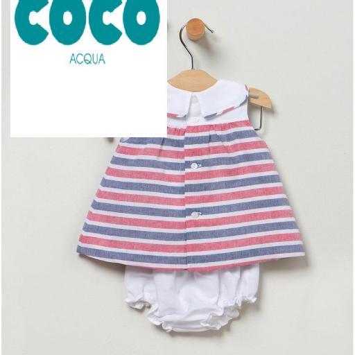 Vestido rayas Coco Acqua [1]