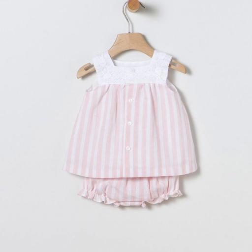Vestido rayas rosa Coco Acqua [1]
