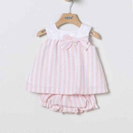 Vestido rayas rosa Coco Acqua