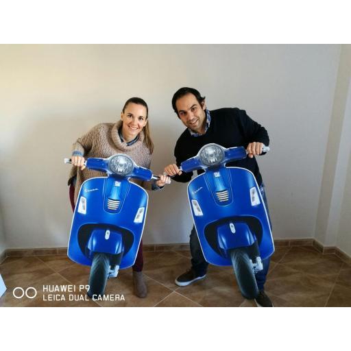 Moto Azul para Photocall [1]