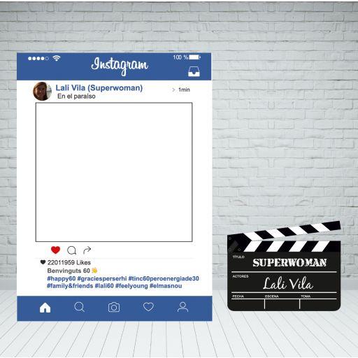 Marco Instagram azul