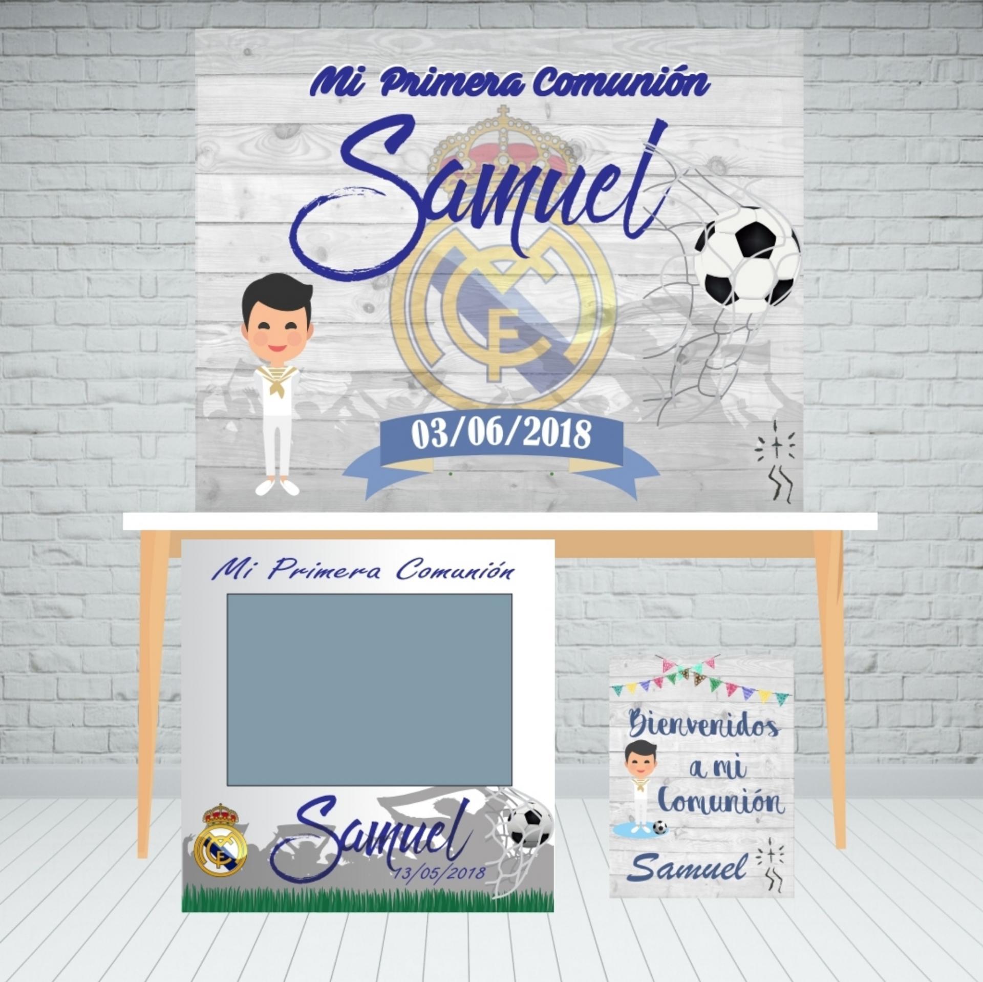 Pack photocall comunión futbol