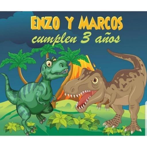 Fondo de mesa dulce Dinosaurios [2]
