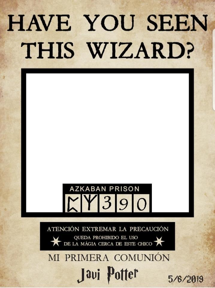 Marco photocall comunión Harry Potter