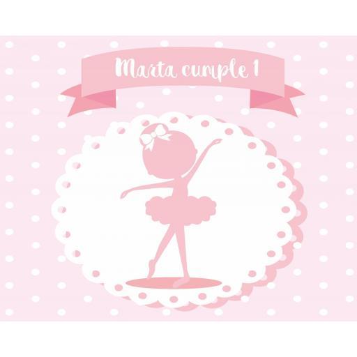 Fondo de mesa dulce Bailarina [1]