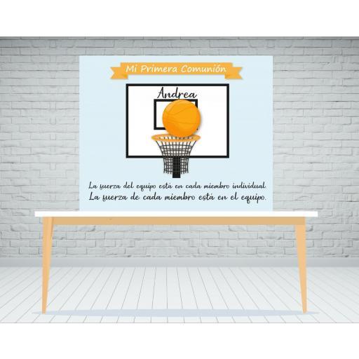 Fondo candy bar baloncesto