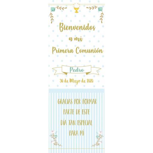 Cartel Bienvenida Comunión elegante [1]