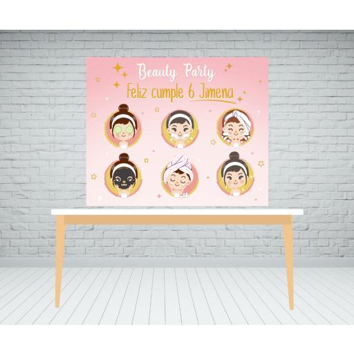 Fondo de mesa dulce Beauty Party [0]