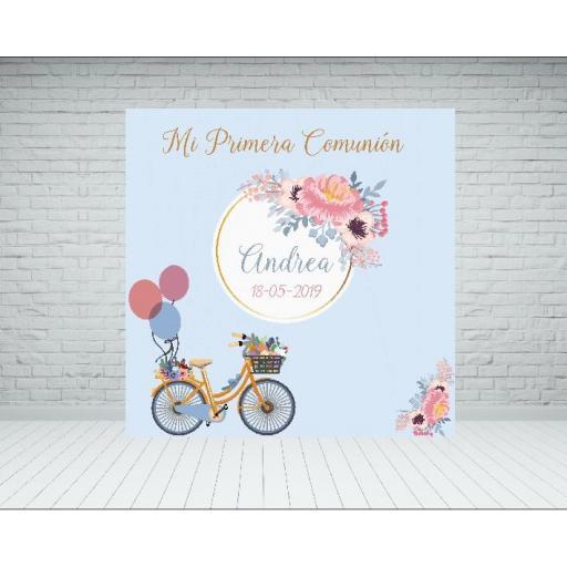 Photocall Bicicleta Comunión