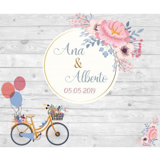 Photocall Bicicleta Comunión [1]