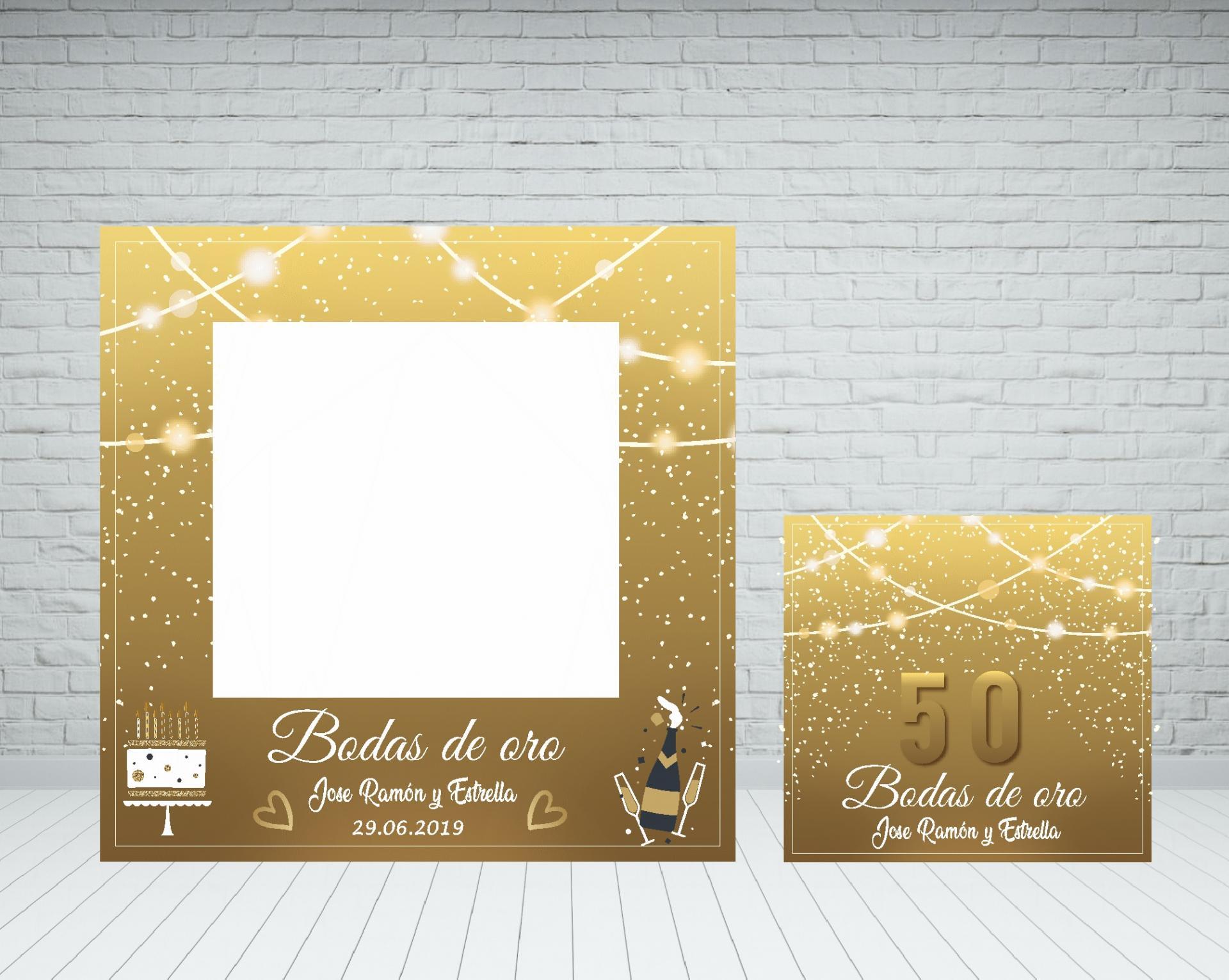 Marco photocall bodas de oro
