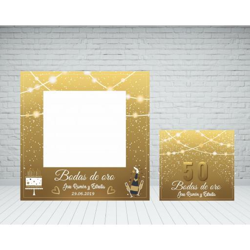 Marco photocall bodas de oro [0]
