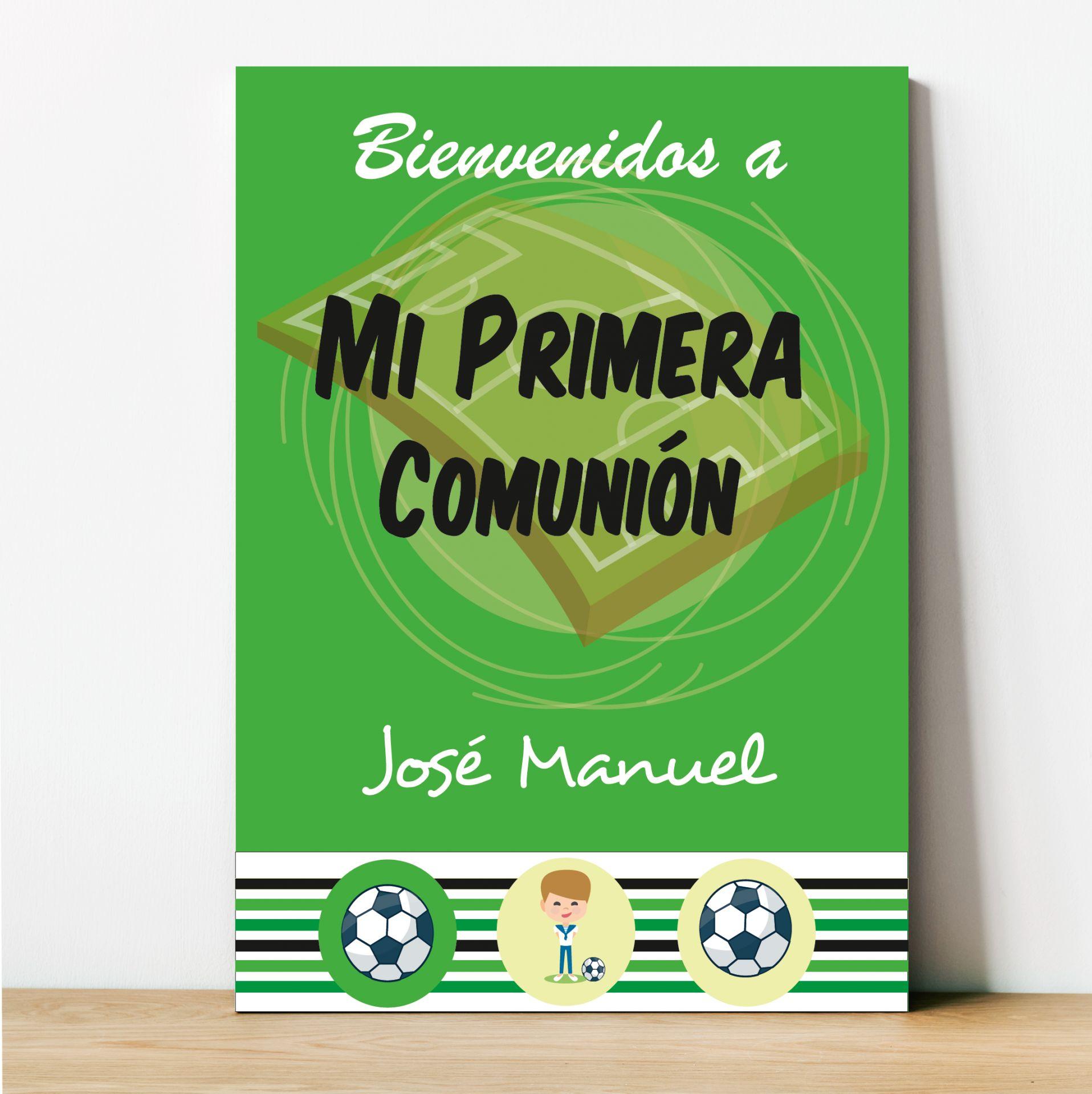 Cartel Primera Comunión Fútbol