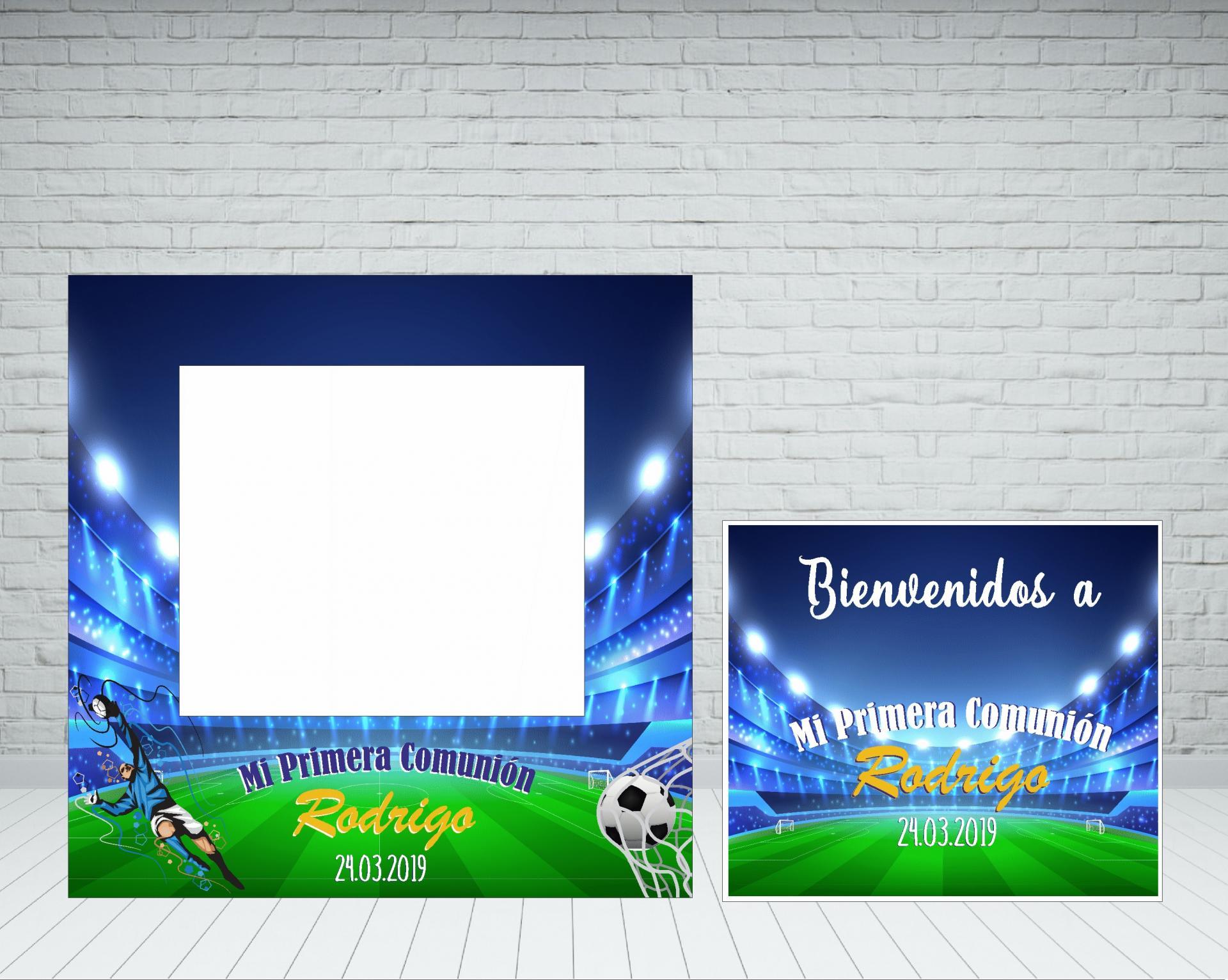Photocall comunión Estadio futbol
