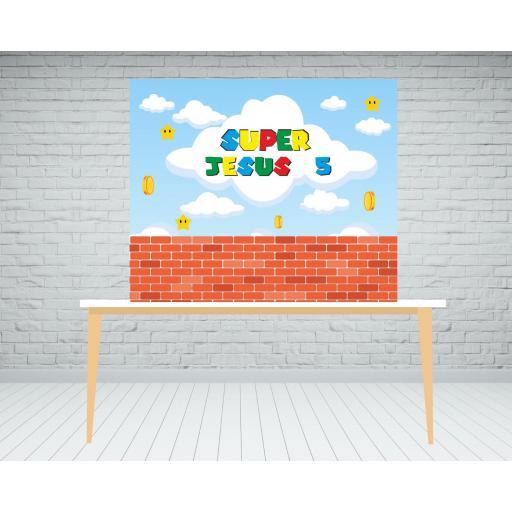 Fondo de mesa dulce Mario Bros