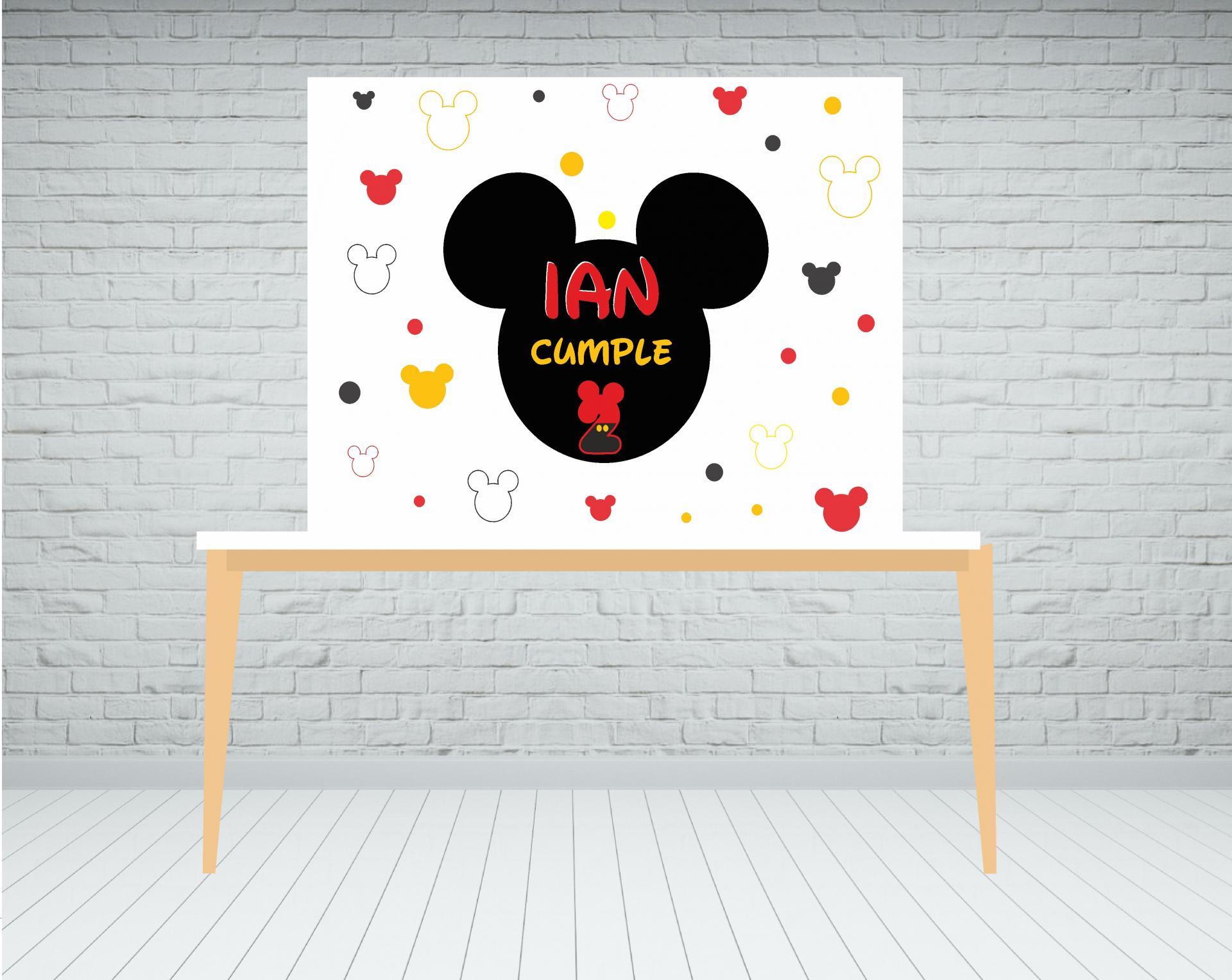 Fondo de mesa dulce Mickey