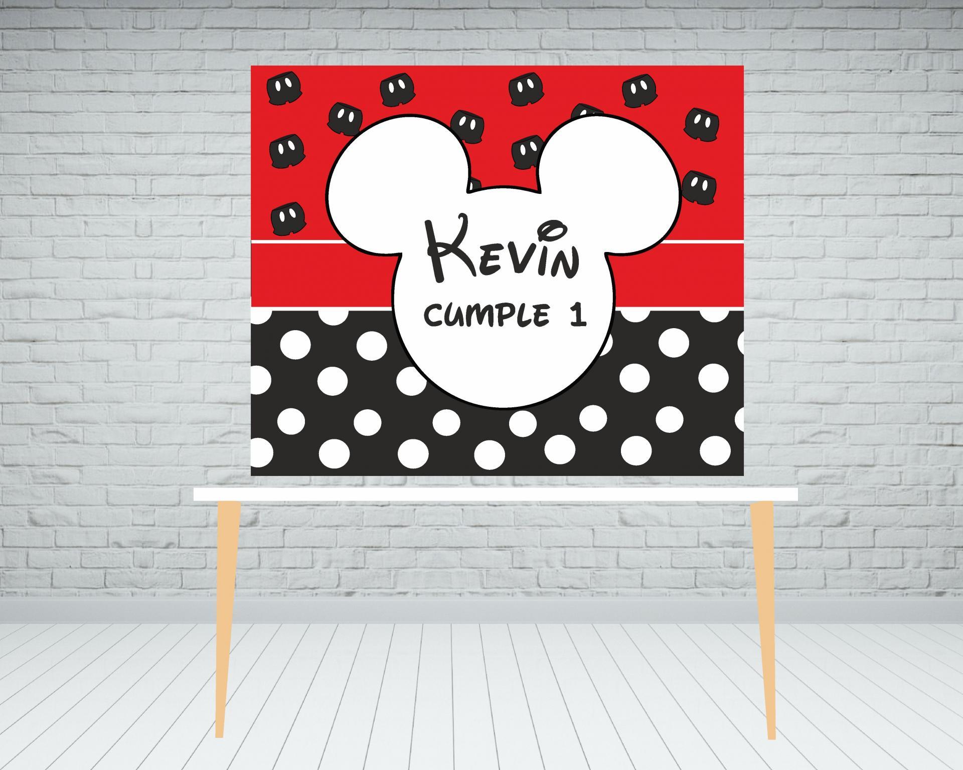 Fondo Candy Bar Mickey/Minnie