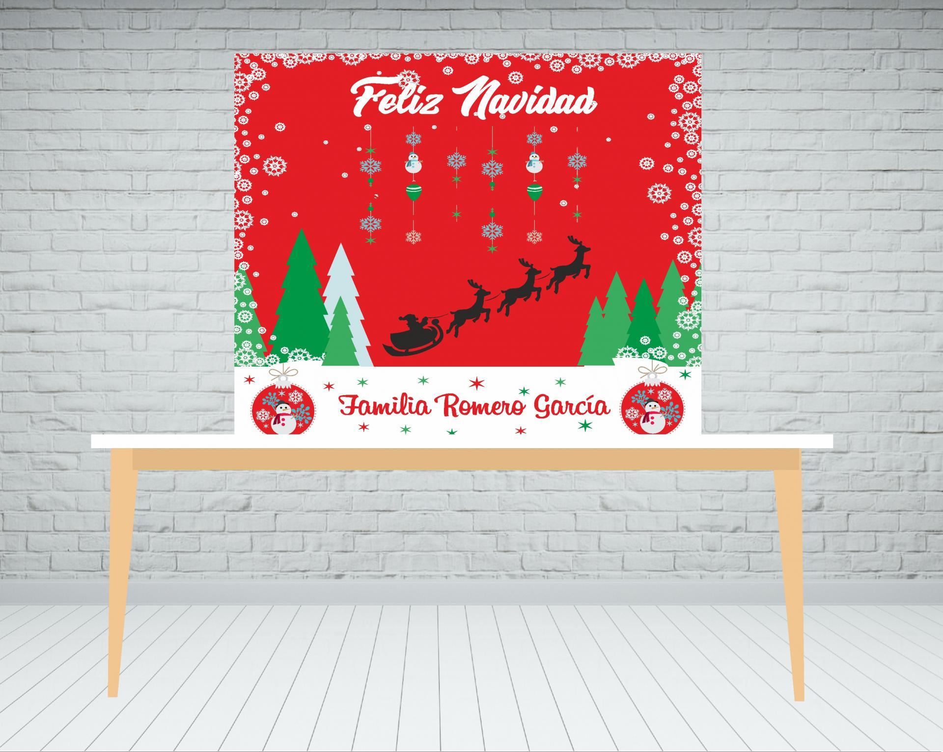 Fondo de mesa dulce Navidad