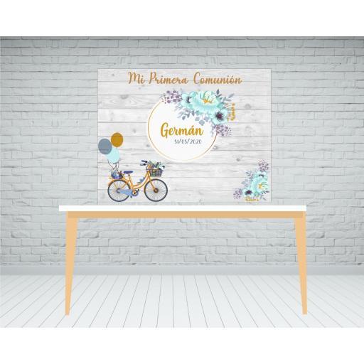 Photocall Bicicleta Comunión [2]