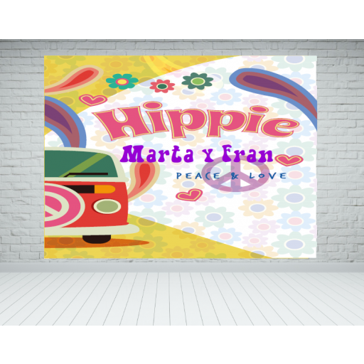Lona photocall Hippie