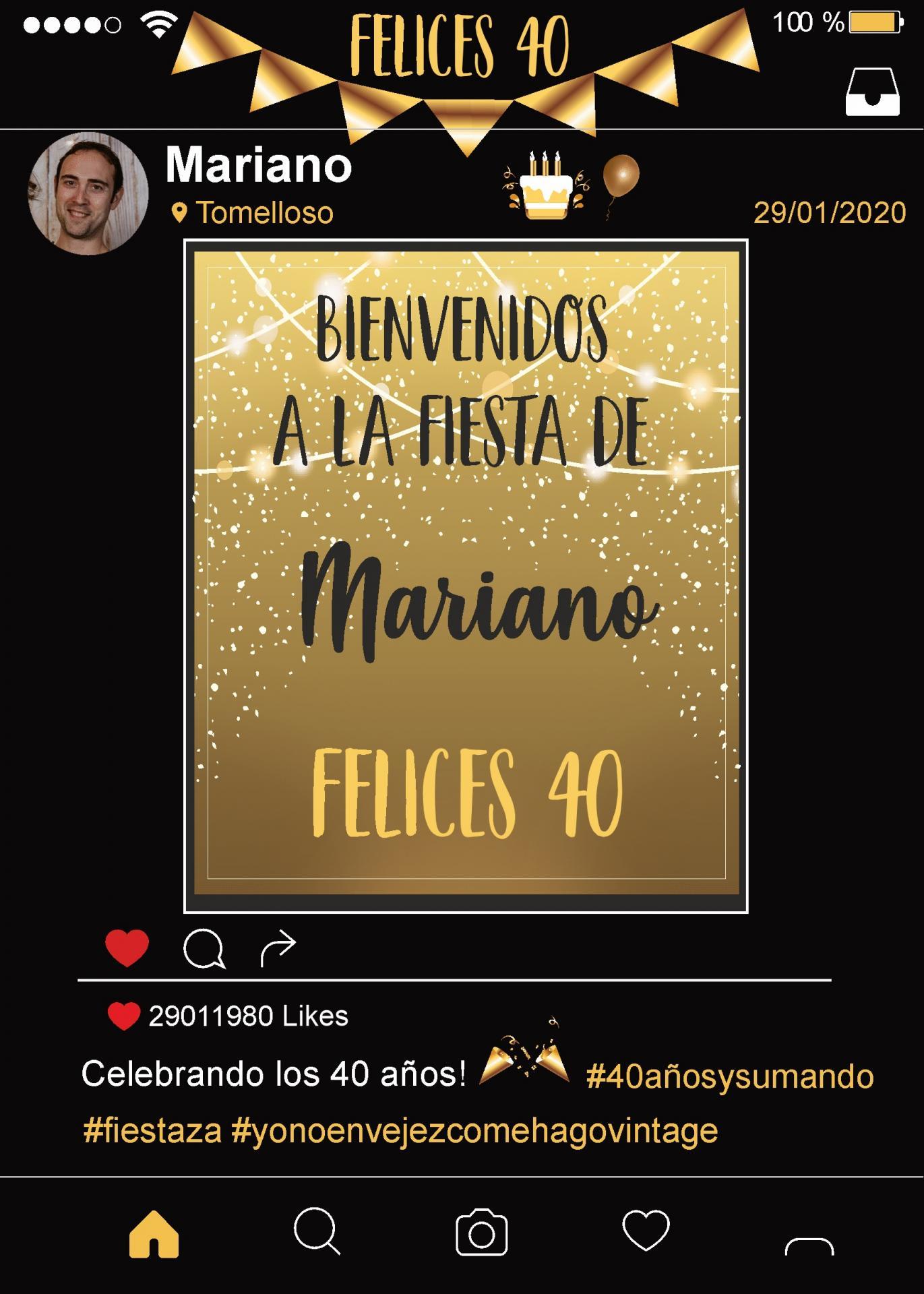 Marco Instagram negro