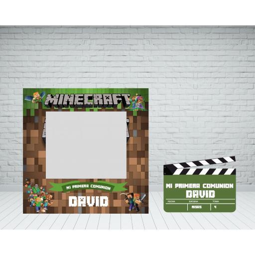 Marco de photocall Minecraft