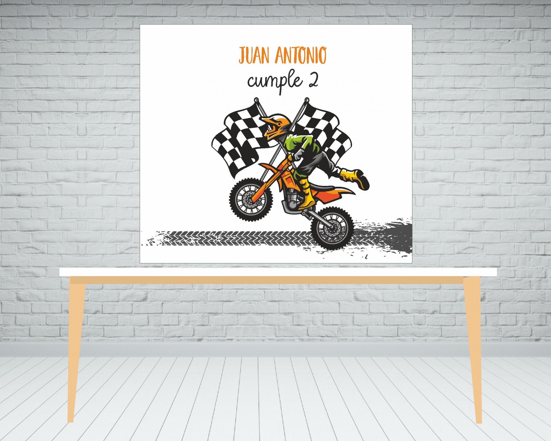 Fondo de mesa dulce moto