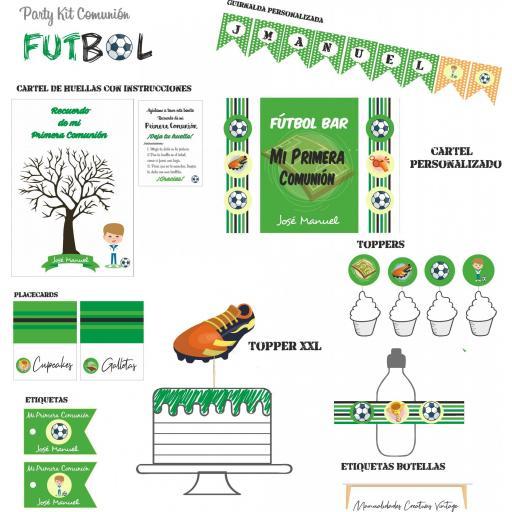 Party Kit digital Fútbol