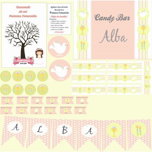 Party Kit digital Comunión niña [1]
