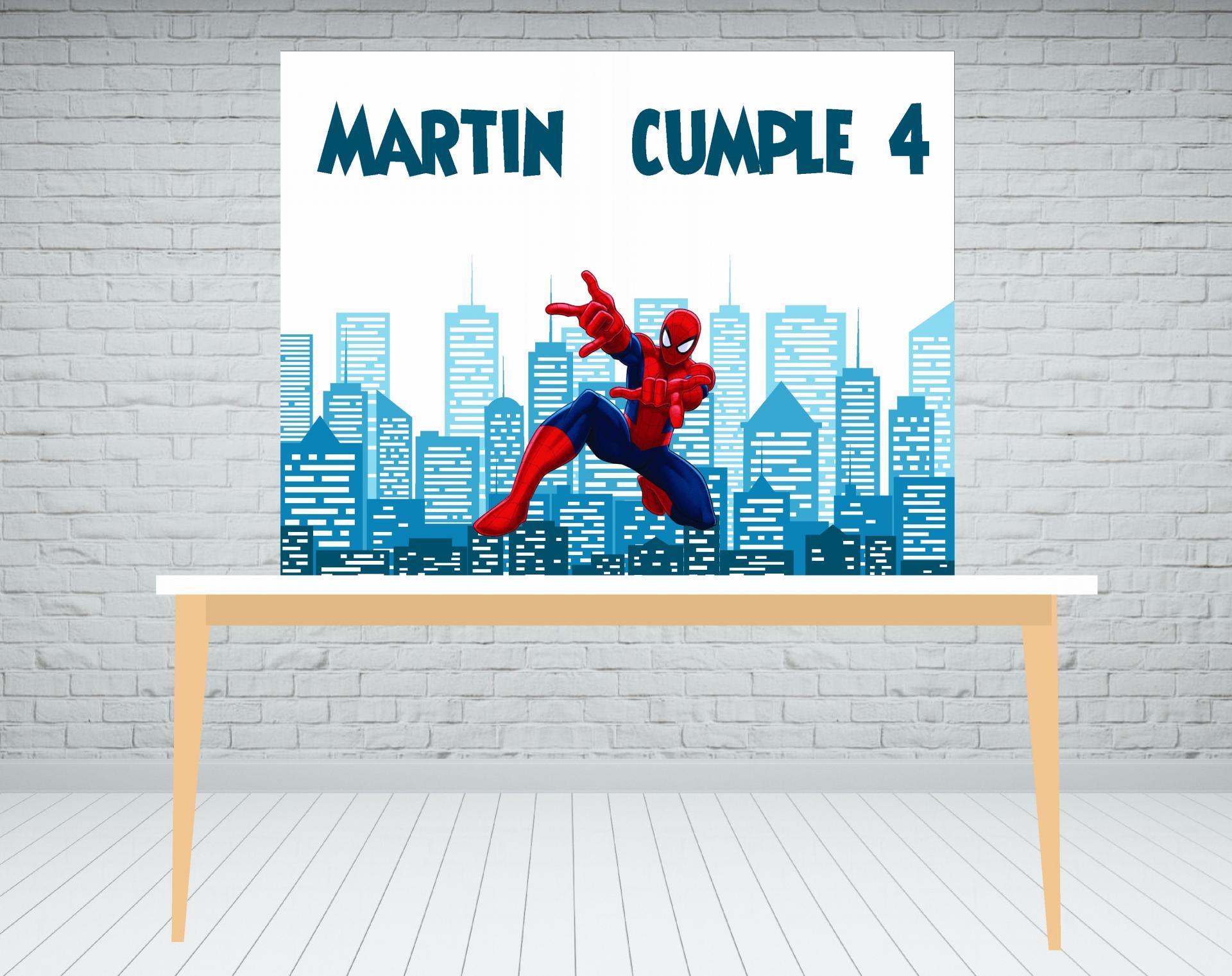 Fondo de mesa dulce Spiderman