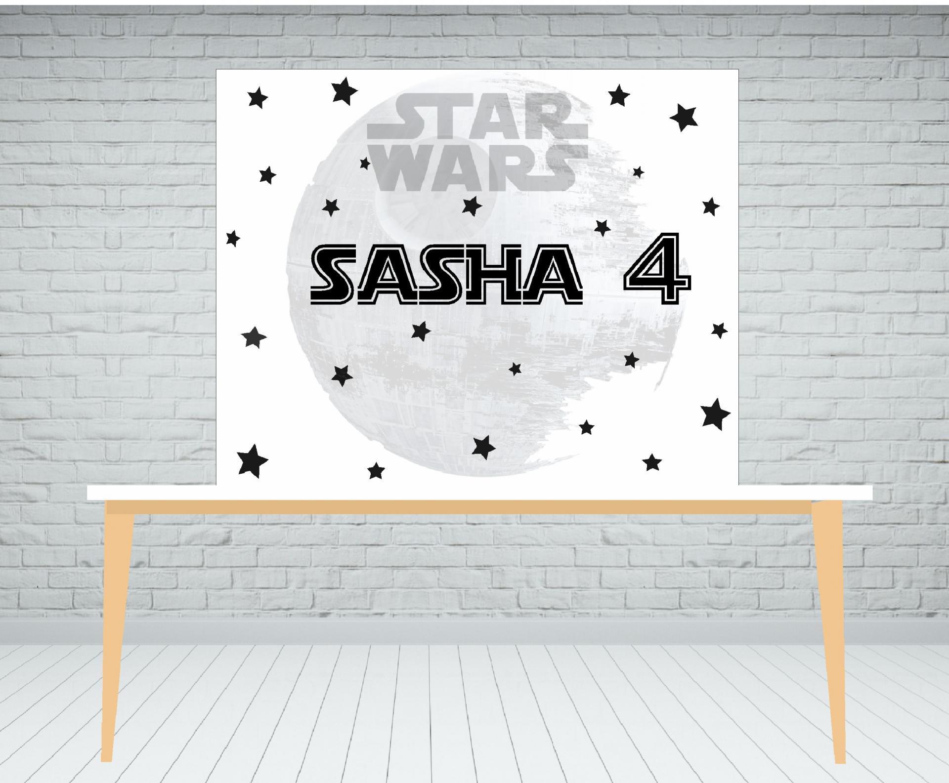 Fondo de mesa dulce Star Wars