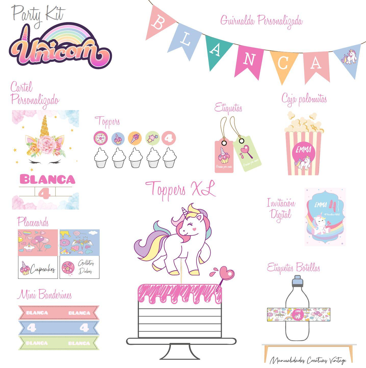 Party Kit digital Unicornio