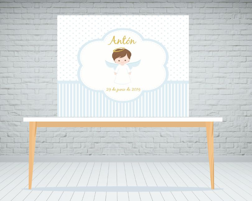 Fondo de mesa dulce Angelito